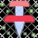 Push Pin Paper Pin Icon