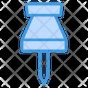 Push Pin Attachment Pin Icon