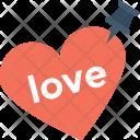 Push Pin Heart Icon