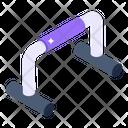 Push Up Bar Fitness Equipment Fitness Machine Icon