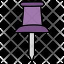 Pushpin Thumbtack Drawing Pin Icon