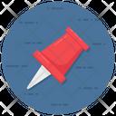 Pushpin Thumb Pin Document Pin Icon