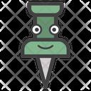 Pushpin Face Icon