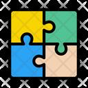 Solution Jigsaw Teamwork Icon