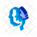 Brain Character Cluster Icon