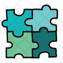 Square Puzzle Pieces Icon