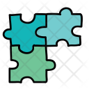 Three Puzzle Pieces Icon