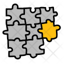 Eight Puzzle Pieces Icon