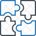Puzzle Parts Pieces Icon