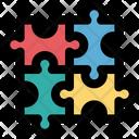 Puzzle Pieces Play Icon
