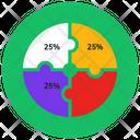 Puzzle Chart Puzzle Graph Percentage Chart Icon