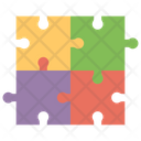 Puzzle Game Brainstorming Puzzle Piece Icon