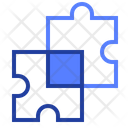 Puzzle Pieces Solution Icon