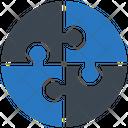 Puzzle Strategy Teamwork Icon
