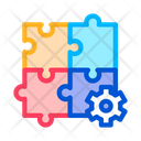 Puzzle Game Gear Icon
