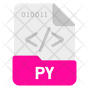 Py File Format Icon