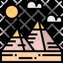 Pyramid Nature Landscape Icon