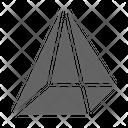 Pyramid Prism D Icon