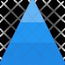 Pyramid Diagram Infographic Icon