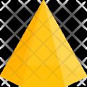 Hexagonal Pyramid Shapes Icon
