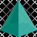 Pentagonal Pyramid Shapes Icon