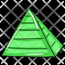 Pyramid Infographic Chart Pyramid Icon