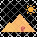 Pyramid Desert Arabia Icon