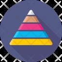 Pyramid Diagram Graph Icon