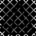 Pyramid Shape Geometry Icon