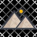 Pyramid Egypt Landmark Dessert Icon