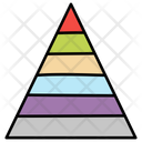 Pyramid Chart Statistic Analysis Business Analytics Icon