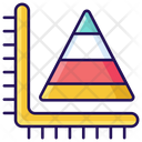 Pyramid Chart Pyramid Graph Data Analytics Icon