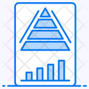 Pyramid Chart Graphical Representation Data Visualization Icon