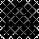 Pyramid Chart Pyramid Graph Analytics Icon