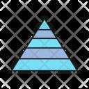 Pyramid Chart Analytics Chart Icon