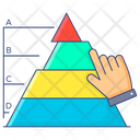 Hierarchical Pyramid Chart Pyramid Chart Triangle Chart Icon