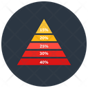 Pyramid Chart Statistic Analytics Business Analytics Icon