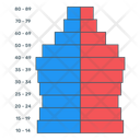 Pyramid Demographic Icon