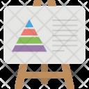 Pyramid Diagram Icon