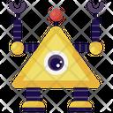 Pyramid Eye Robot Educational Robot Mechanical Monitoring Icon