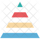 Pyramid Graph Pyramid Chart Triangle Pattern Icon