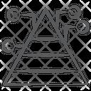 Pyramid Graph Statistic Analytics Business Analytics Icon