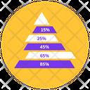 Pyramid Graph Pyramid Chart Statistic Analytics Icon