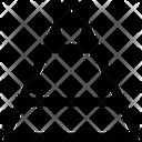 Pyramid Graph Pyramid Graph Icon