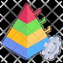 Pyramid Graph Modern Chart Modern Infographic Icon