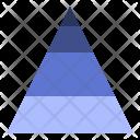 Pyramid Data Visualization Icon