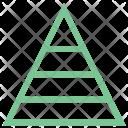 Pyramid Dimension Steps Icon