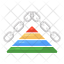 Pyramid Link Triangle Link Pyramid Chainlink Icon