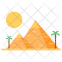 Pyramid Sand Vacation Icon