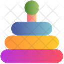 Colorful Stacking Motoric Game Icon